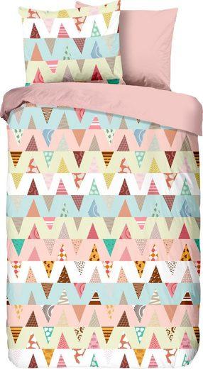Kinderbettwäsche »Happy«, good morning, in fröhlichem Design