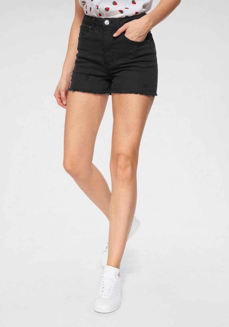 AJC Shorts aus Jeansqualität mit Destroyed Effekten