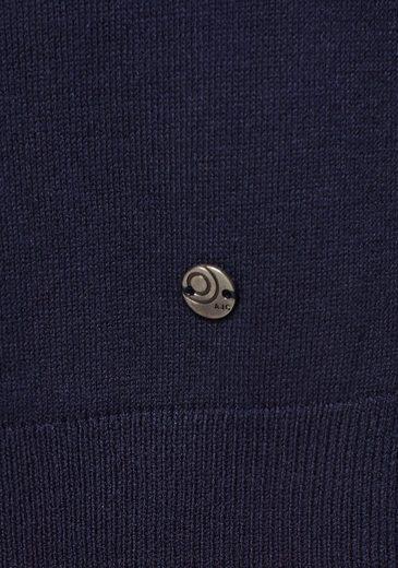 Mit Weit details Kontrastfarbenen Ajc Streifen Longstrickjacke Extra qPBHx17t