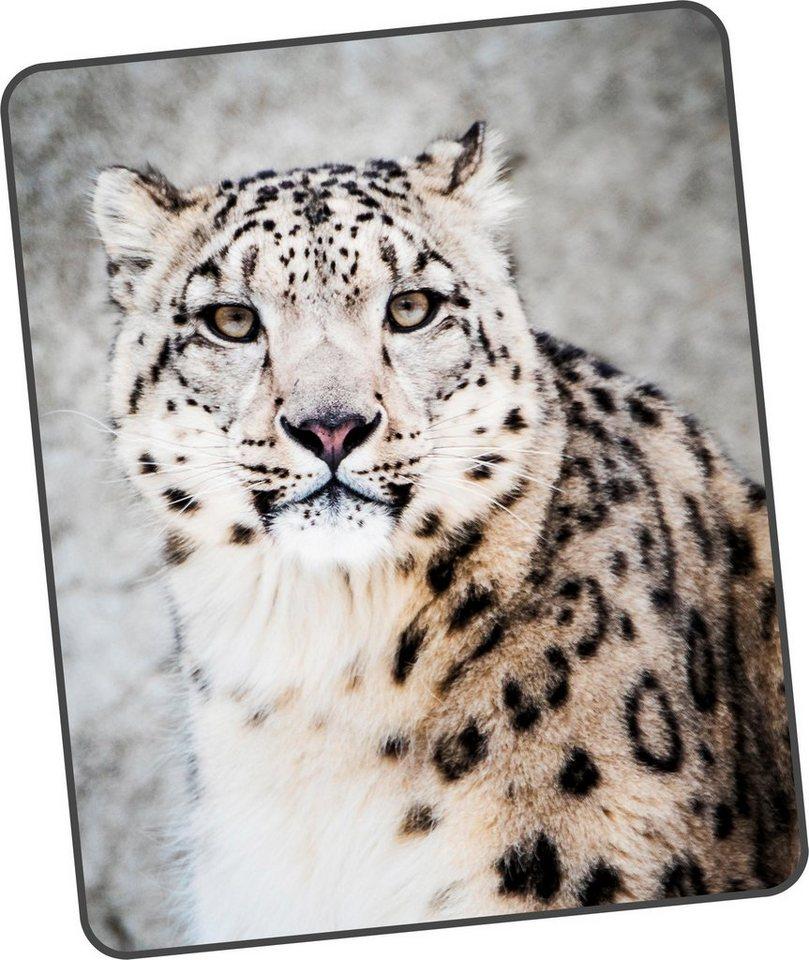 Wohndecke Snowhorses Good Morning Mit Leoparden Motiv Online Kaufen Otto