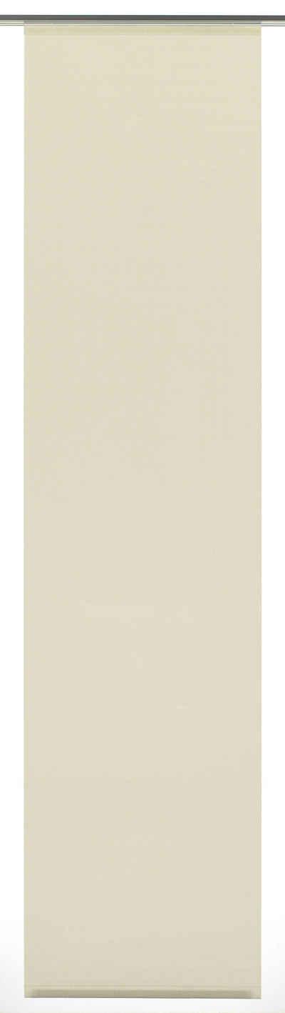 Schiebegardine »Flächenvorhang Stoff Uni«, GARDINIA, Klettband (1 Stück), HxB: 245x60
