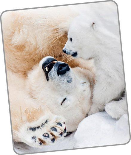 Wohndecke »Cute Bear«, good morning, mit Eisbären