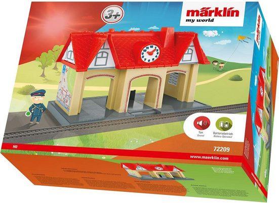 """Märklin Modelleisenbahn-Gebäude """"Eisenbahnzubehör, my world, Soundbahnhof - 72209"""", Spur H0"""