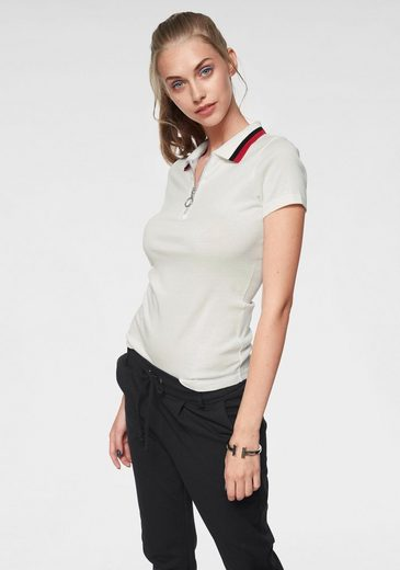 AJC Poloshirt mit kurzem Reißverschluss