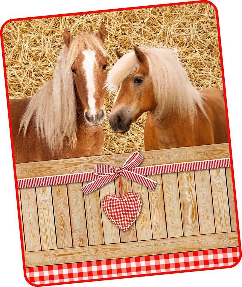 Wohndecke Goldy Good Morning Mit Pferde Motiv Otto