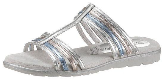 Tamaris »Sidra« Pantolette im sommerlichen Metallic-Look