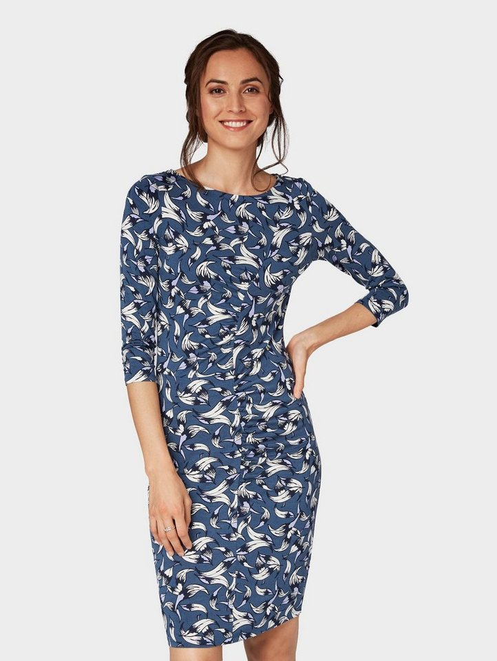 tom tailor blusenkleid »feminines kleid mit blumenmuster
