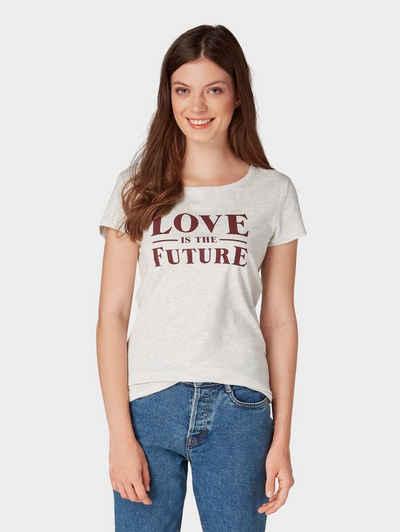 Tom Tailor Denim T-Shirt »T-Shirt mit Schriftzug« 42978c9d08
