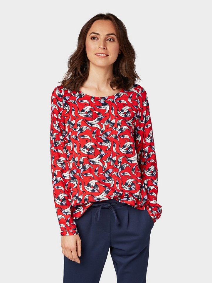Tom Tailor Shirtbluse »Gemusterte Bluse« kaufen   OTTO