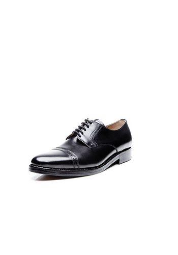 Herren Heinrich Dinkelacker Milano Quarter-Brogue BC Schnürschuh Wahre Schuhmacherkunst aus Budapest schwarz | 04251386611410