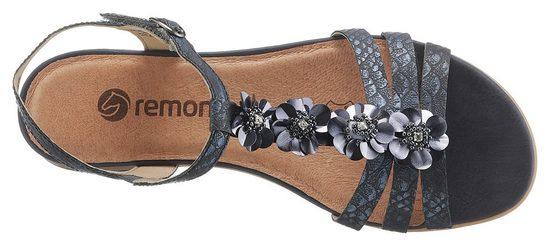Remonte Schöner Sandale Blütenapplikation Remonte Sandale Mit 1RzPq