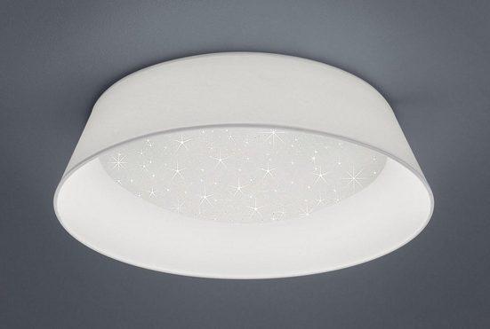TRIO Leuchten LED Deckenleuchte »MILENA«, Deckenlampe Ø 45cm, mit Starlight Effekt und Stoff-Schirm, 3000K, 1.700 Lumen