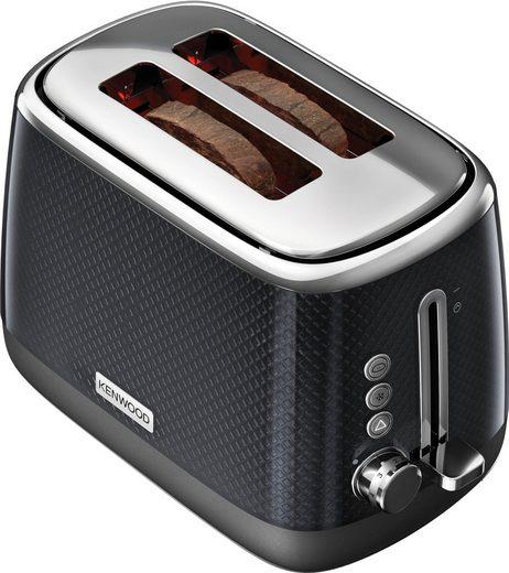 KENWOOD Toaster Mesmerine TCM811.BK, 2 kurze Schlitze, für 2 Scheiben, 1000 W