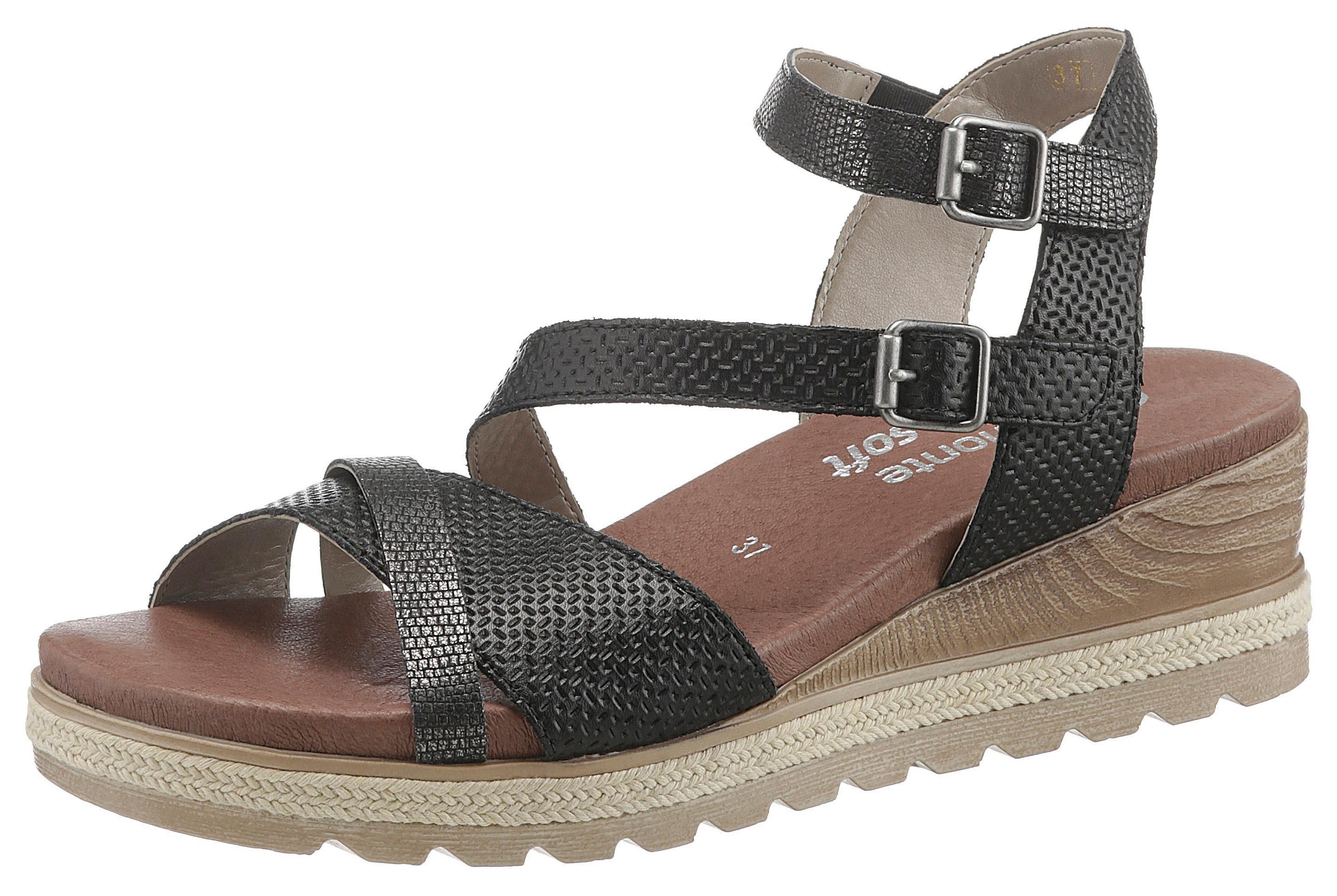 Remonte Sandalette mit Metalliceffekten
