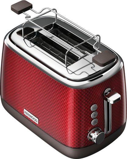 KENWOOD Toaster Mesmerine TCM811.RD, 2 kurze Schlitze, für 2 Scheiben, 1000 W