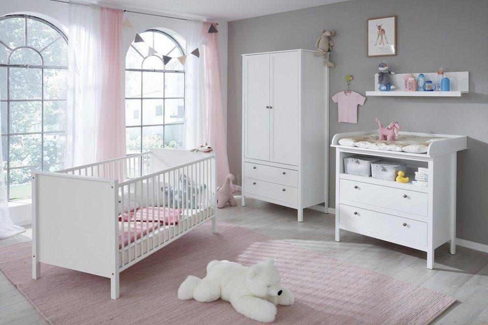 komplettzimmer 4 tlg set westerland babybett wickelkommode 2 trg kleiderschrank. Black Bedroom Furniture Sets. Home Design Ideas