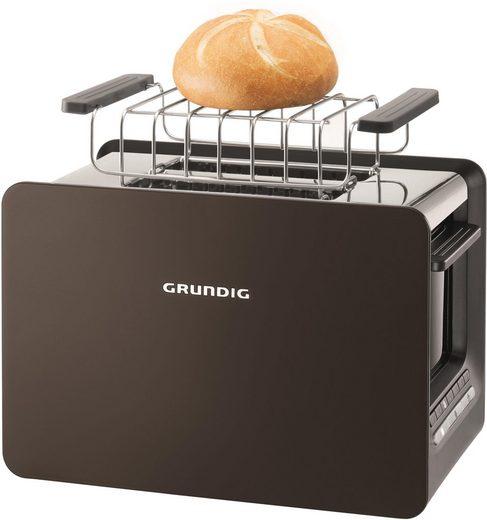 Grundig Toaster TA 7280 G, 2 kurze Schlitze, 870 W