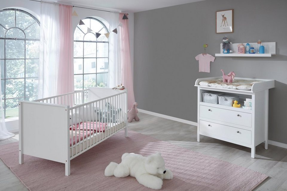 babym bel set westerland 2 tlg bett wickelkommode. Black Bedroom Furniture Sets. Home Design Ideas
