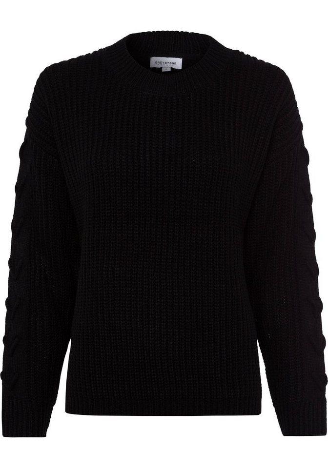 Damen GREYSTONE Strickpullover mit toller Zierschnürung schwarz | 04059203678291
