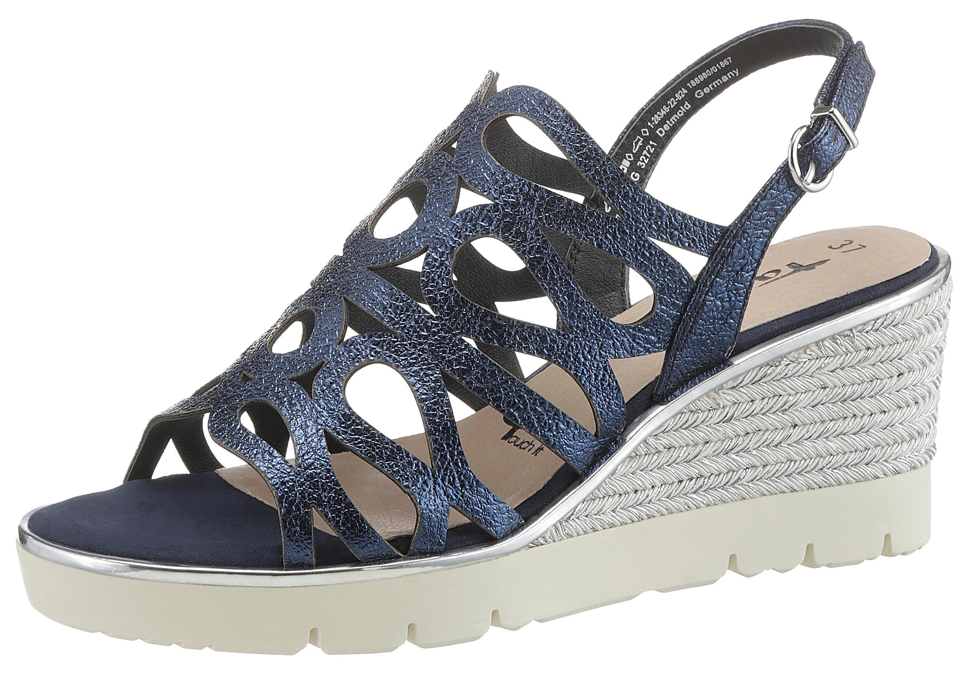 Tamaris »Jette« Sandalette im schönen Metallic Look online kaufen   OTTO