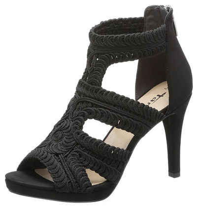 c6f9fb737a6901 Tamaris »Myggia« High-Heel-Sandalette in Makramee-Optik