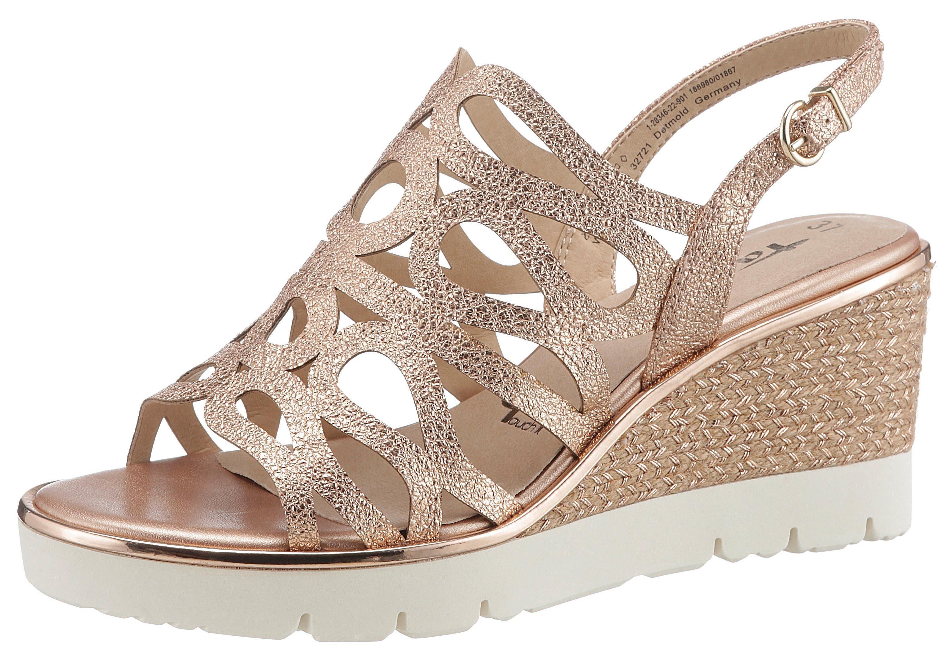 Tamaris »Jette« Sandalette im schönen Metallic Look online kaufen | OTTO