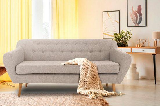 andas 3-Sitzer »Renne«, mit Heftung im Rücken im skandinavischem Stil