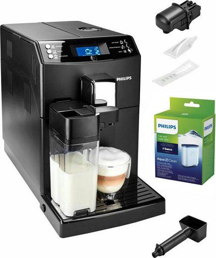 Philips Kaffeevollautomat 3100 Serie EP3550/00, mit Scheibenmahlwerk