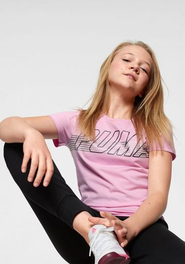 PUMA T-Shirt »ALPHA LOGO TEE GIRLS«