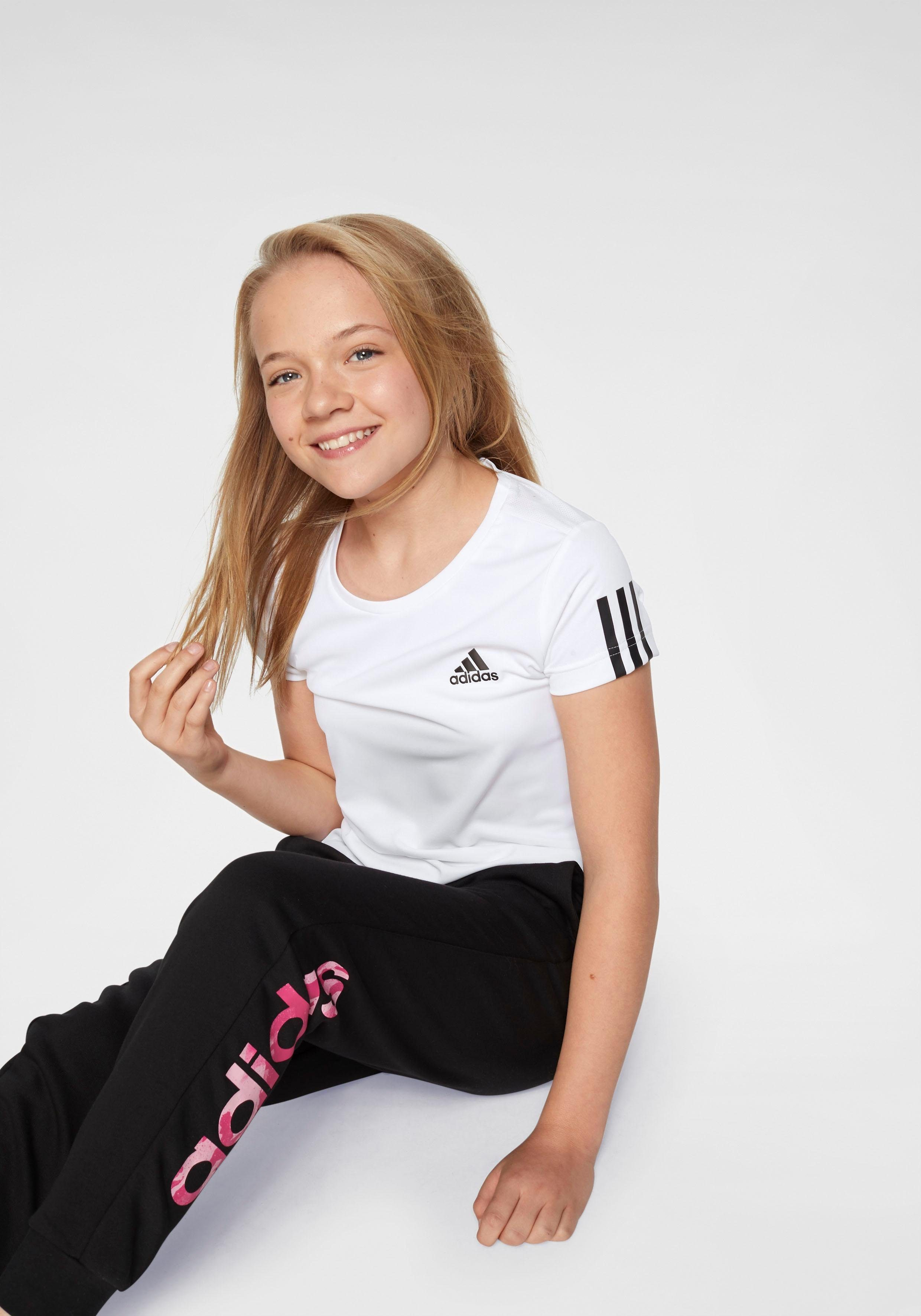 Damen,  Kinder,  Mädchen adidas Performance Trainingsshirt »YOUNG GIRL TRAINING EQUIPMENT TEE« weiß   04060515881521, 04062049526343