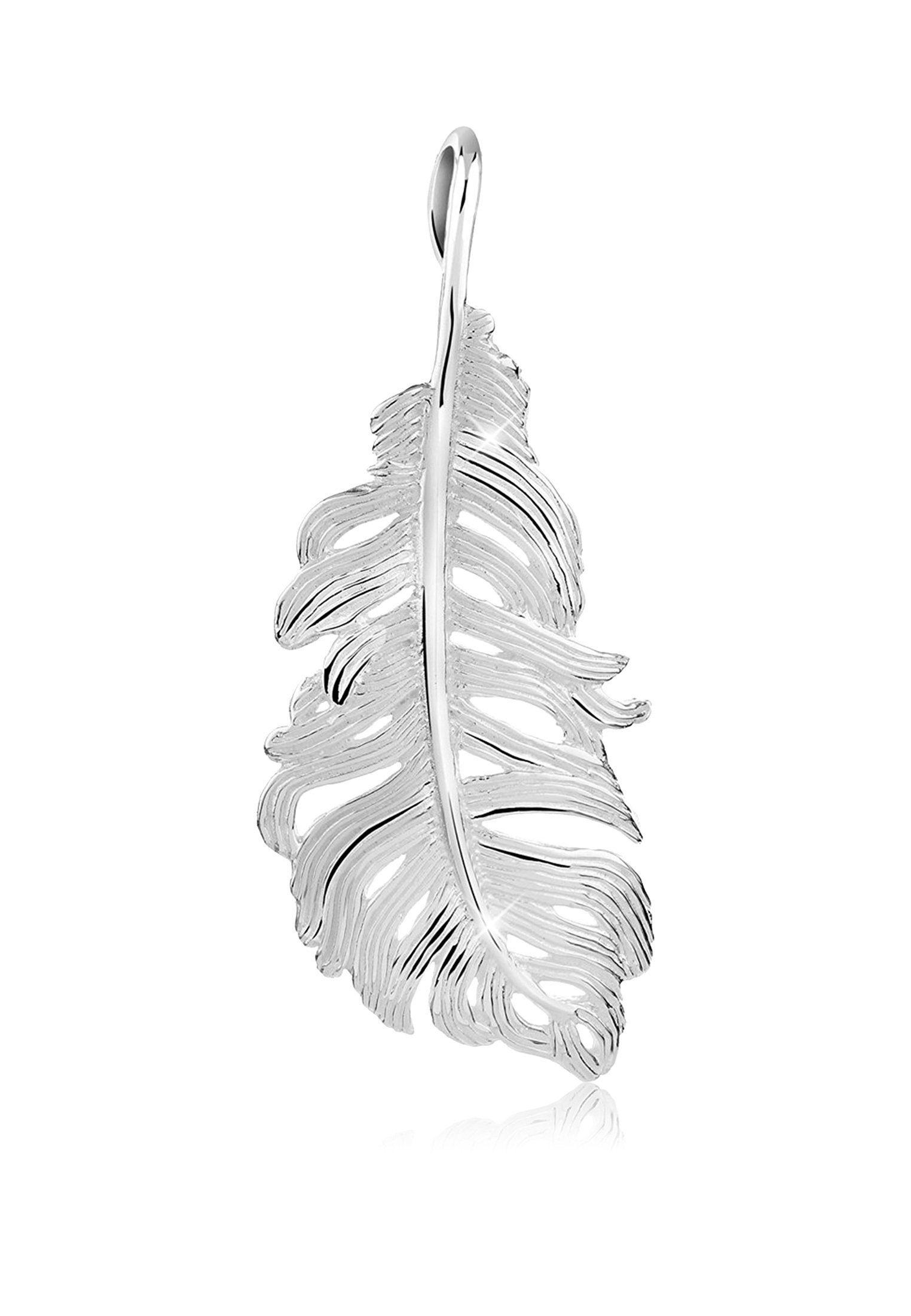 Nenalina Kettenanhänger »Feder Symbol Boho Festival 925er Sterling Silber«