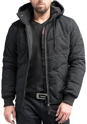 Herren Ragwear Winterjacke Dockie coole Herren Windbreaker Outdoorjacke mit Kapuze schwarz | 04251490176898