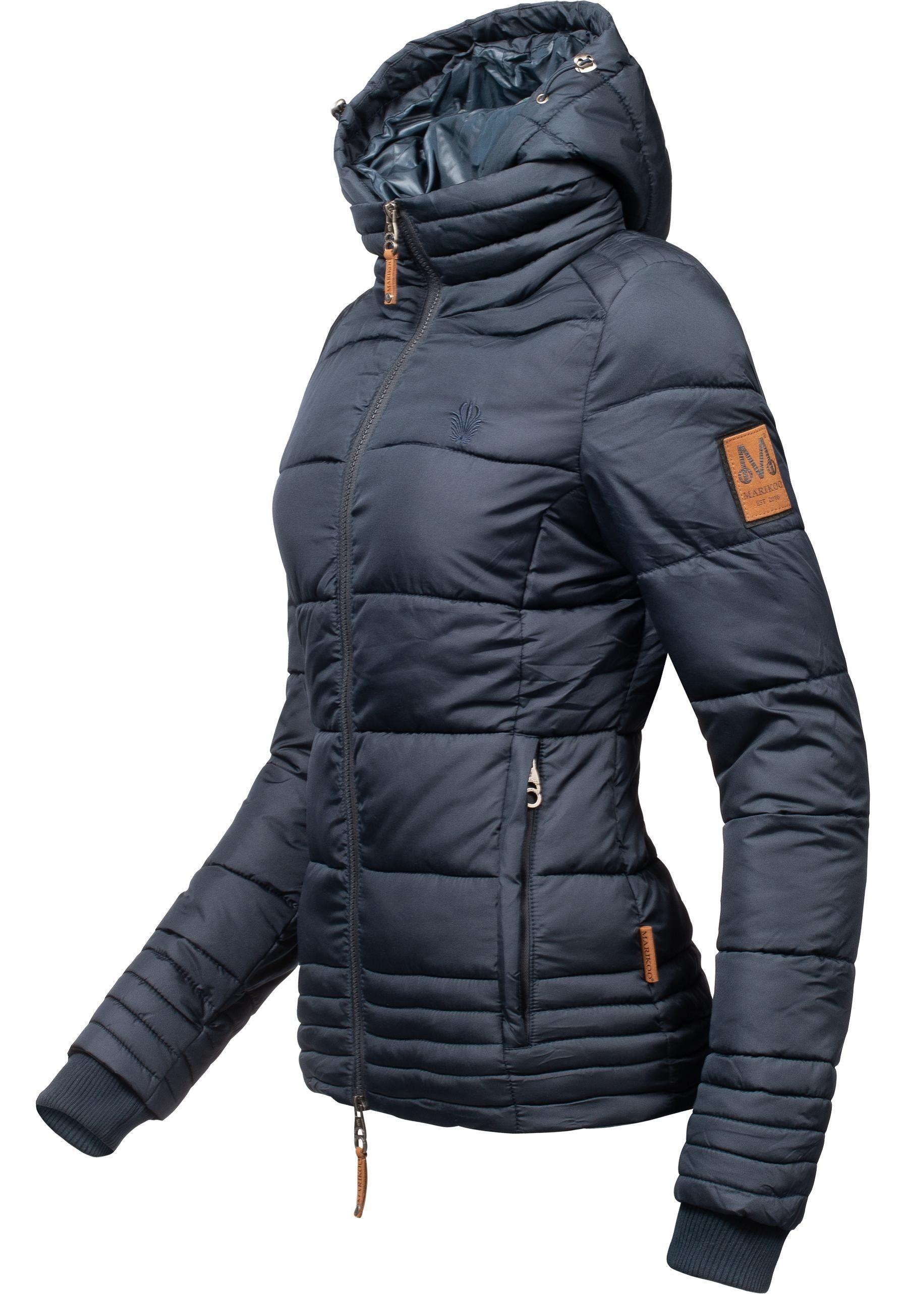 Marikoo leichte Damen Winter Jacke gefüttert Winterjacke