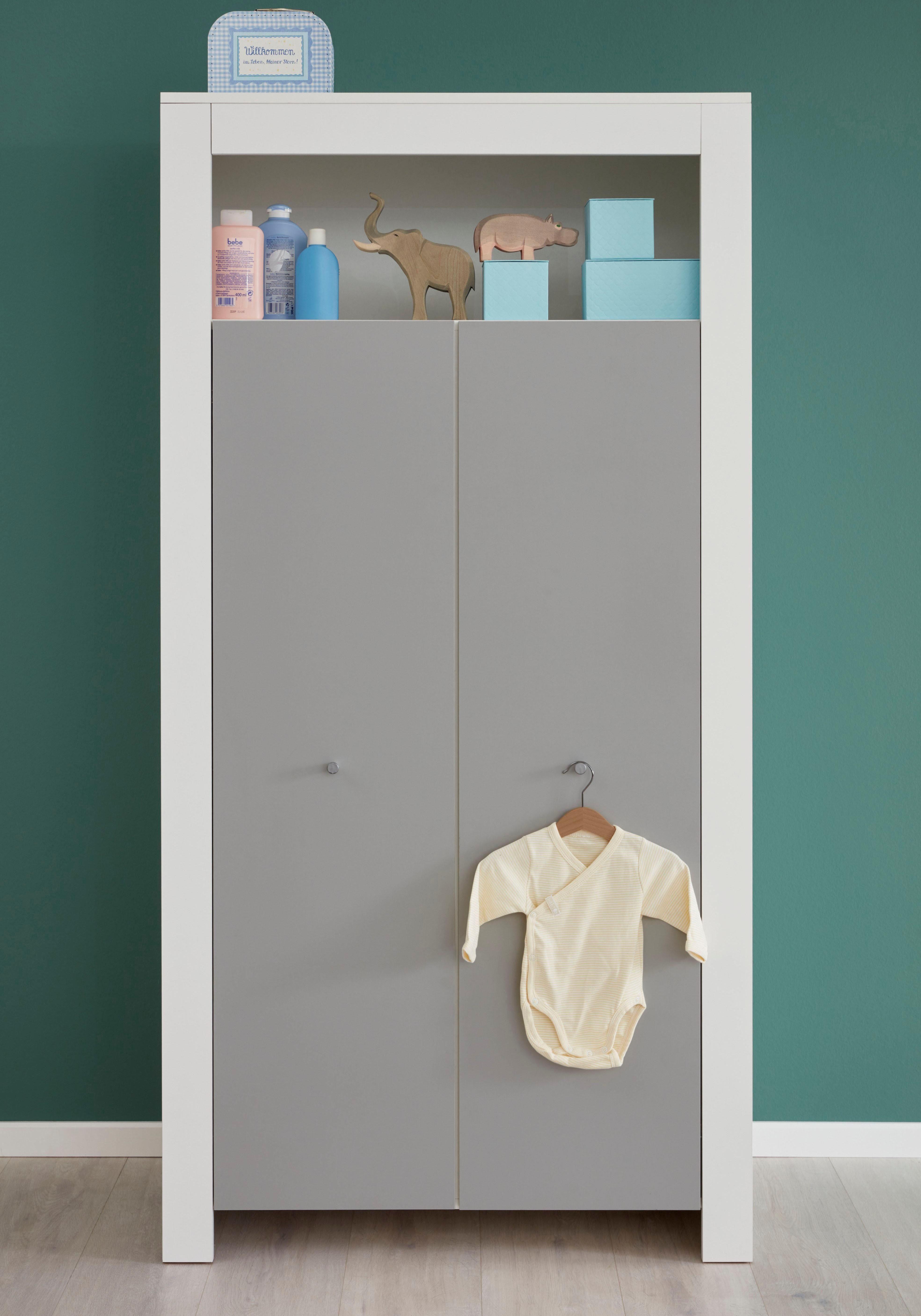 Kleiderschrank »Lissabon« in grau/weiß, Breite 94 cm