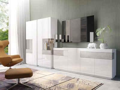 Wohnwand in weiß » Hochglanz & Matt kaufen   OTTO