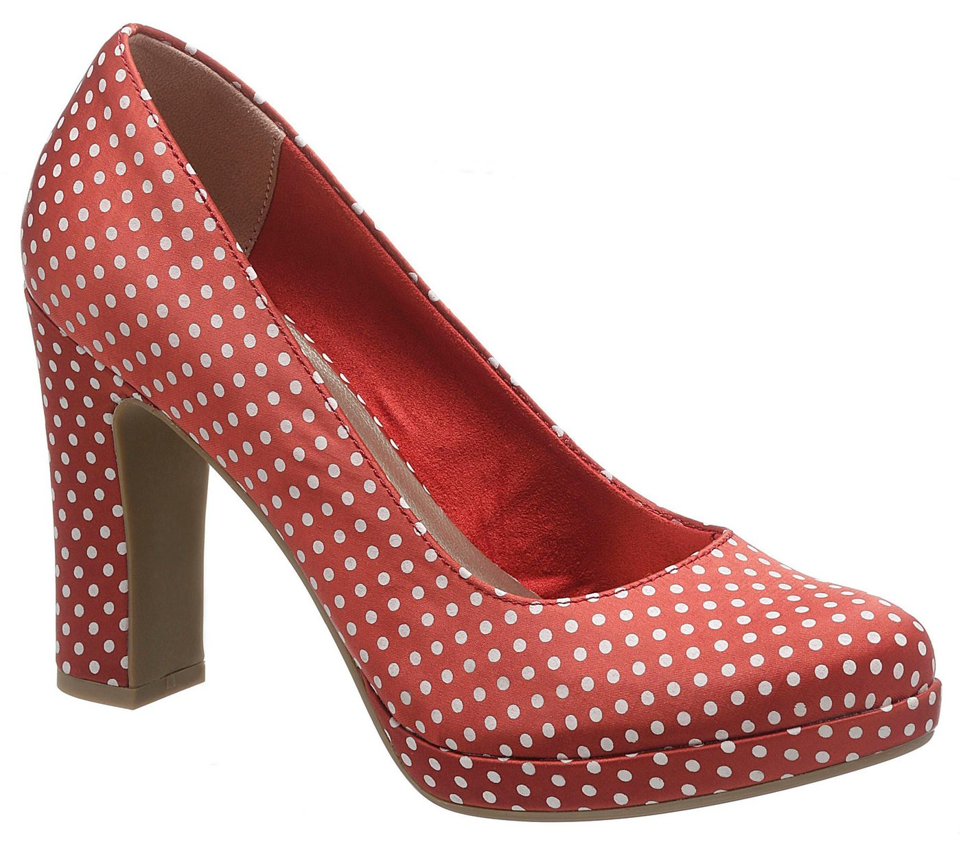 Tamaris »Lycoris« High-Heel-Pumps mit hübschen Pünktchen-Print | Schuhe > High Heels > High Heel Pumps | Rot | Tamaris