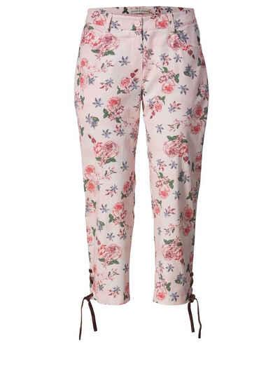 Janet und Joyce by Happy Size 7 8 Trachten-Hose mit Blumen-Print bdd770b320