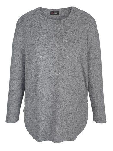 MIAMODA Pullover mit Herzen aus Nieten im Vorderteil
