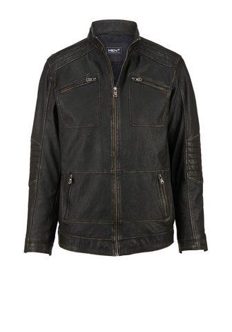 MEN PLUS BY HAPPY SIZE Кожаный пиджак