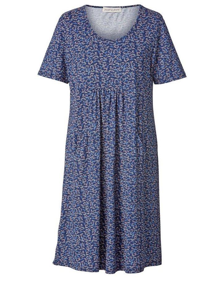 c236a425676e18 Janet und Joyce by Happy Size Kleid mit Blumen-Print, Vorteilhafte ...