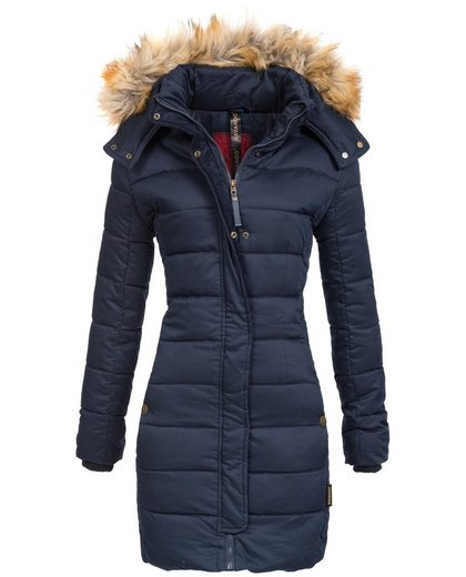 Navahoo Wintermantel »Jessica« modisch taillierte Damen Steppjacke für den Winter