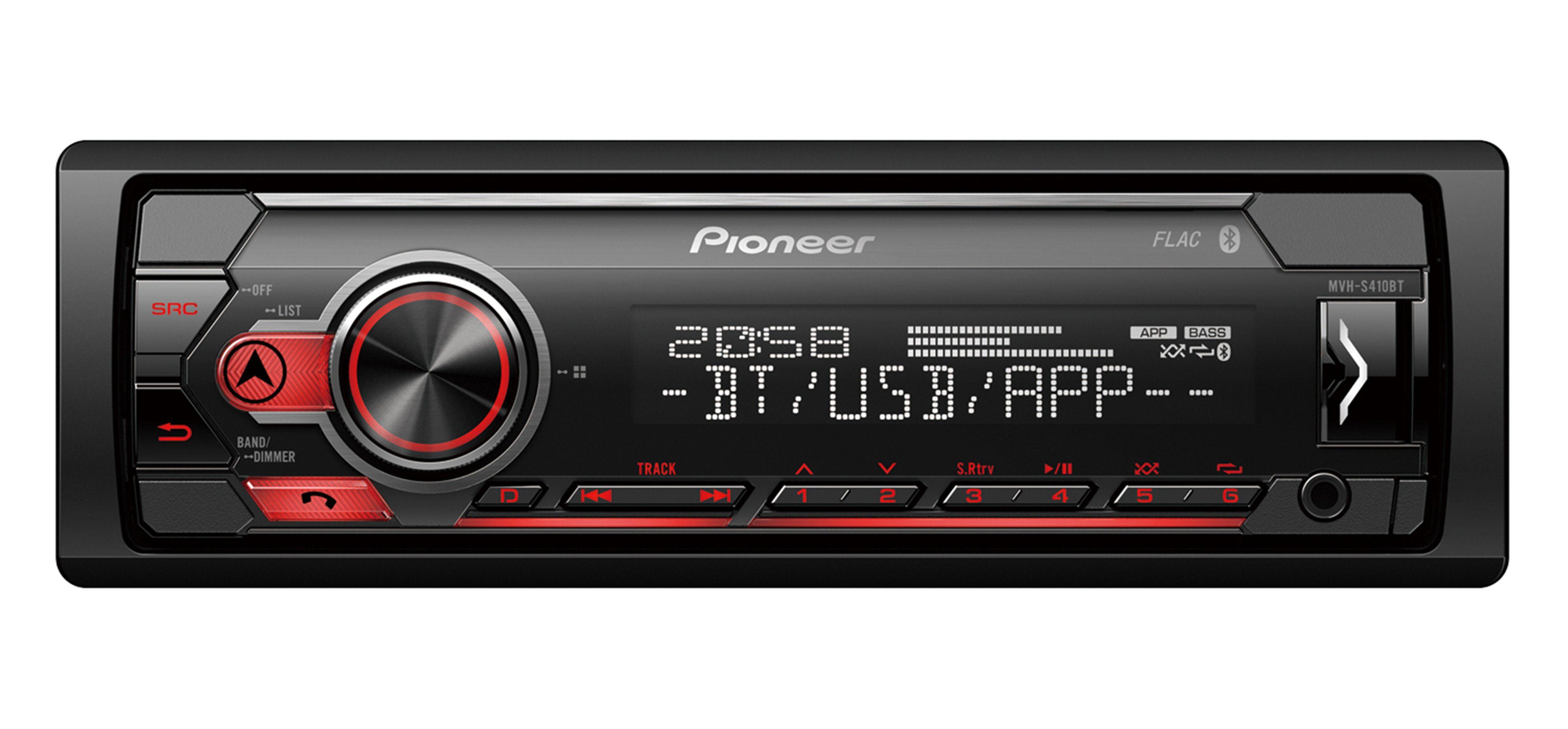 PIONEER 1-DIN Autoradio mit Bluetooth, Spotify für iPhone & Android »MVH-S410BT«