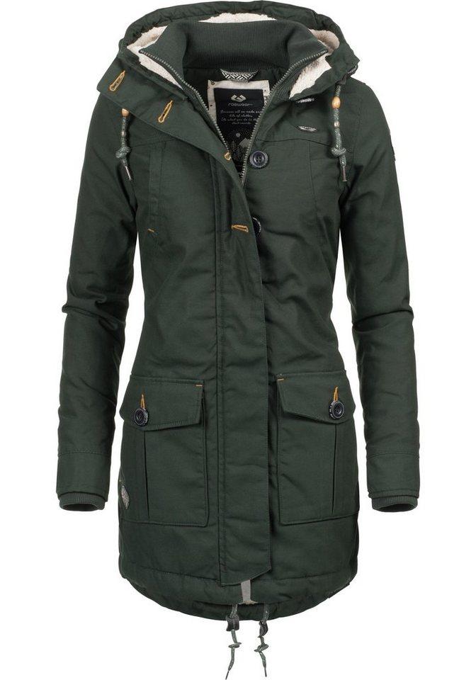 2de10ccf034e Ragwear Winterjacke »Jane Black Label« modische Damen Outdoorjacke mit viel  Liebe zum Detail