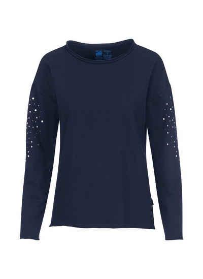 Trigema Sweatshirt mit Glitzerapplikationen