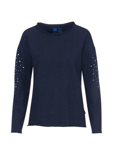 Trigema Sweatshirt mit Glitzersteinen