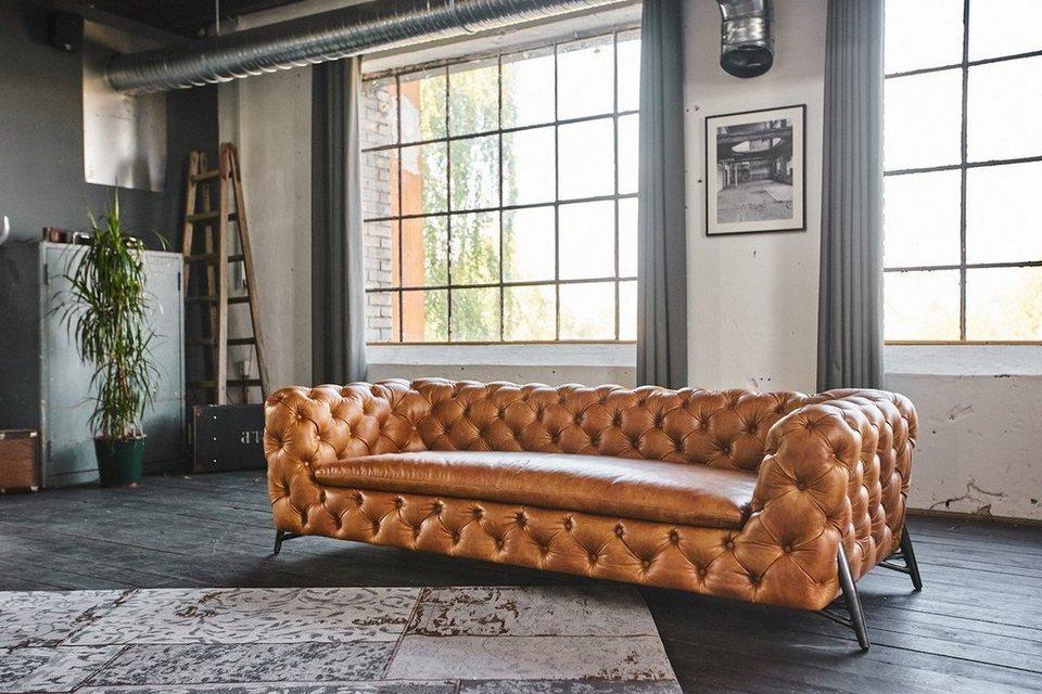 Kasper Wohndesign Ledersofa Verschiedene Farben Chesterseat Online Kaufen Otto