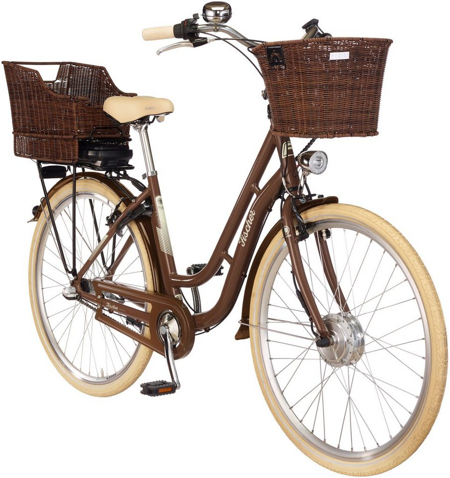 fischer fahrraeder e bike city e retro1804 braun 28 zoll 3 gang frontmotor 317 wh online. Black Bedroom Furniture Sets. Home Design Ideas