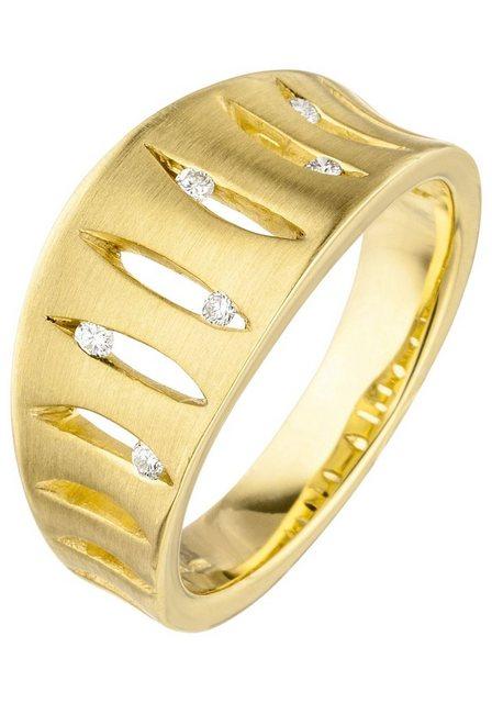 JOBO Diamantring, 585 Gold mit 6 Diamanten | Schmuck > Ringe > Diamantringe | Jobo