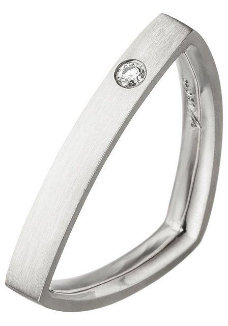 JOBO Diamantring »Dreieck«, 950 Platin mit Diamant | Schmuck > Ringe > Diamantringe | Jobo