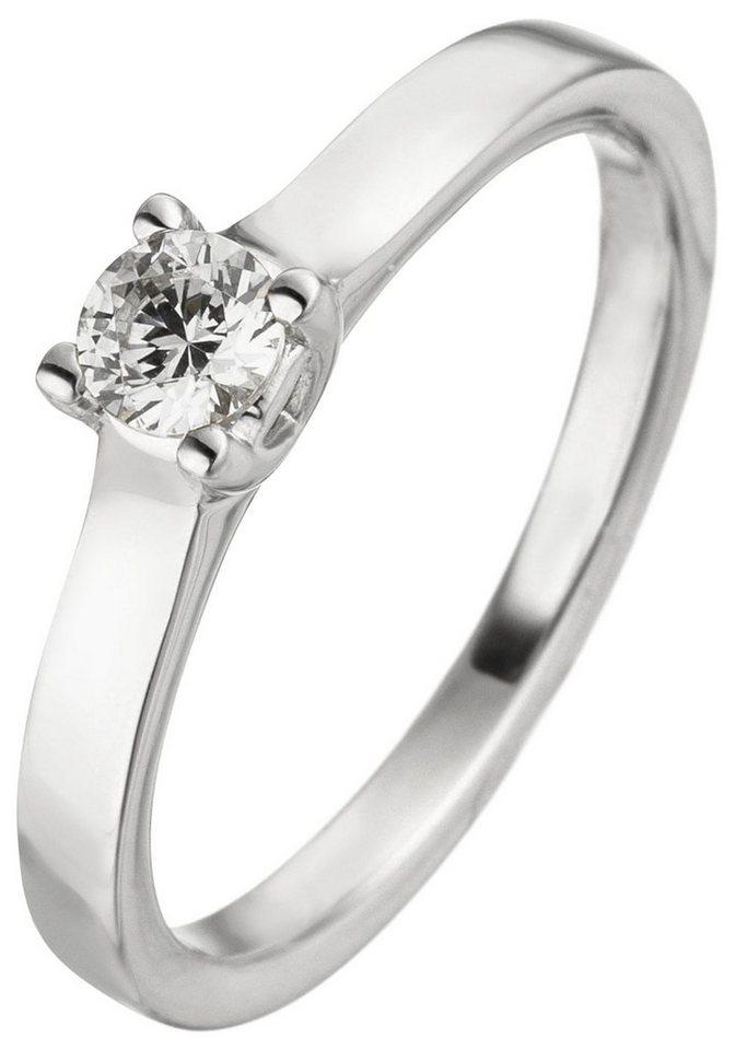 JOBO Solitärring 585 Weißgold mit 1 Diamant Brillant 0,25 ct. | Schmuck > Ringe > Solitär Ringe | Si | JOBO